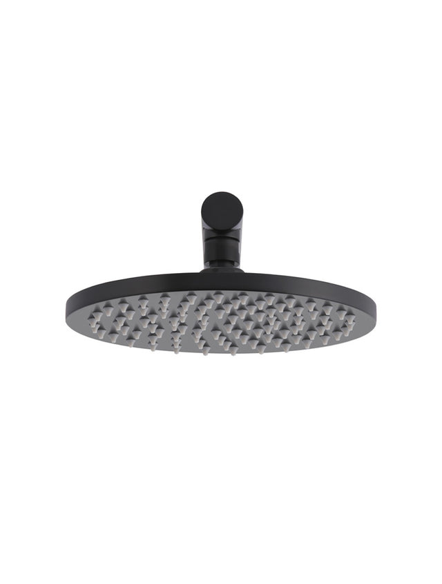 Meir Round Wall Shower, 200mm rose, 400mm arm - Matte Black (SKU: MA0204-400) Image - 3