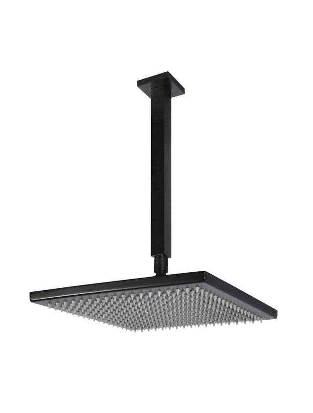 Meir Square Ceiling Shower 300mm rose, 200mm dropper - Matte Black (SKU: MA0403) Image - 1