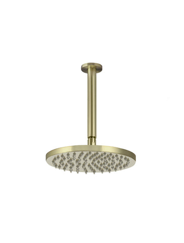 Round Ceiling Shower 200mm rose, 150mm dropper - Tiger Bronze