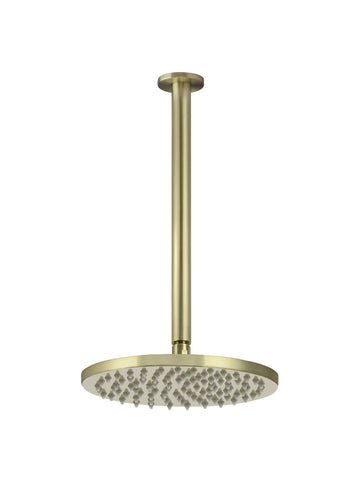 Round Ceiling Shower 200mm rose, 300mm dropper - Tiger Bronze
