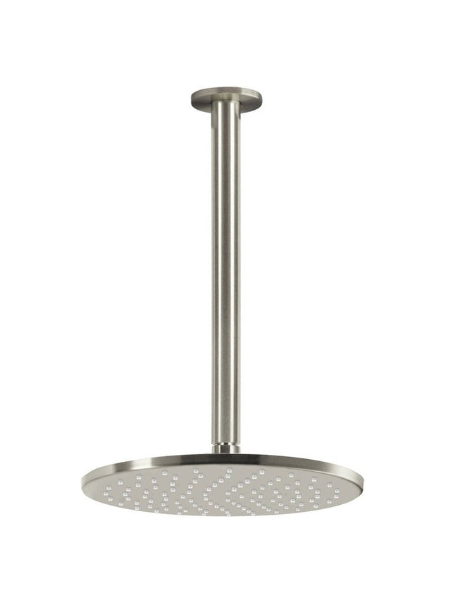 Meir Round Ceiling Shower 250mm Rose, 300mm Dropper - PVD Brushed Nickel (SKU: MA0705-PVDBN) Image - 1