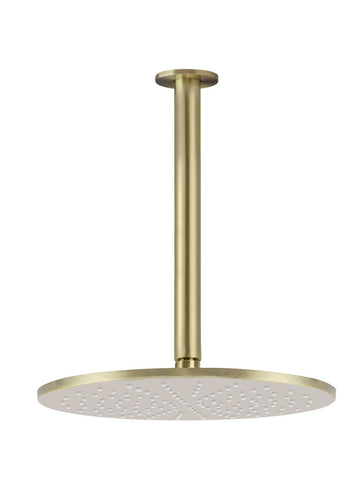 Round Ceiling Shower 300mm rose, 300mm dropper - Tiger Bronze