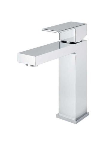 Square Basin Mixer - Polished Chrome