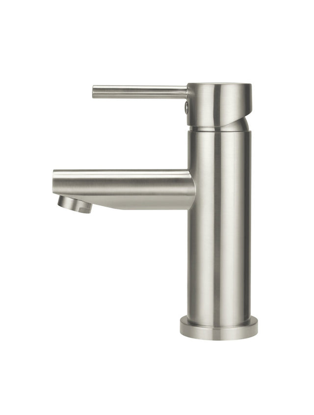 Meir Round Basin Mixer - PVD Brushed Nickel (SKU: MB02-PVDBN) Image - 2