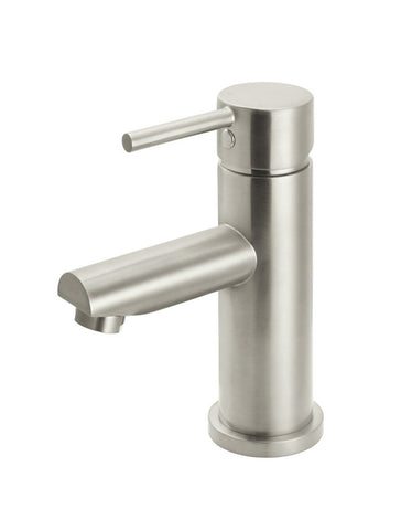 Round Basin Mixer - Brushed Nickel