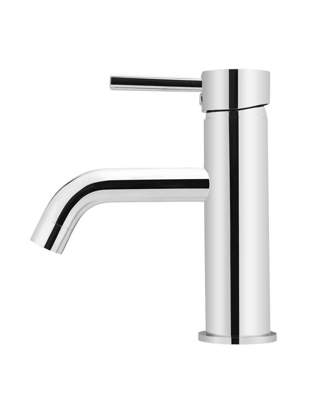 Meir Round Basin Mixer Curved - Polished Chrome (SKU: MB03-C) Image - 2