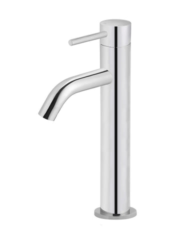 Piccola Tall Basin Mixer Tap - Polished Chrome