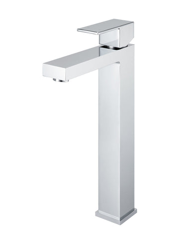 Square Tall Chrome Basin Mixer by Meir Australia