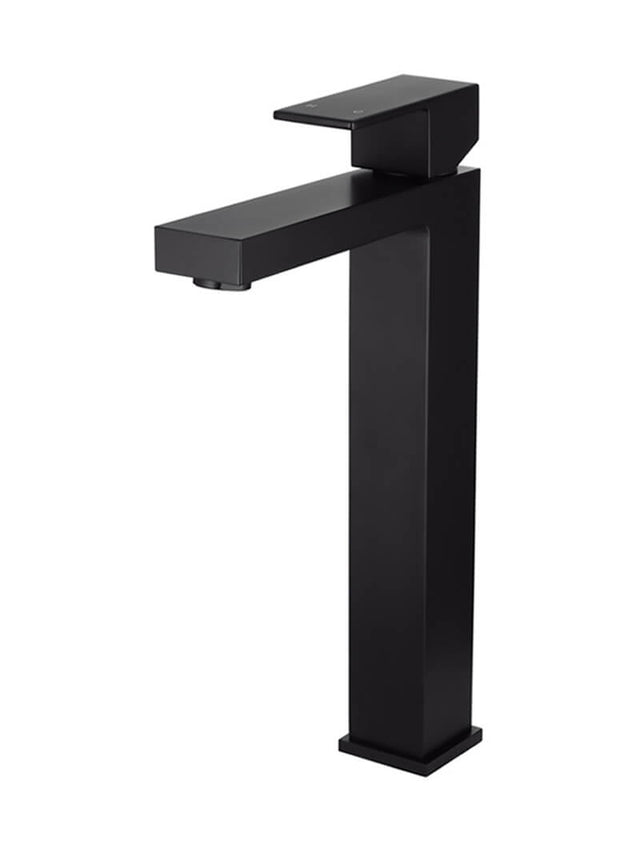 Meir Square Tall Basin Mixer - Matte Black (SKU: MB04) Image - 1