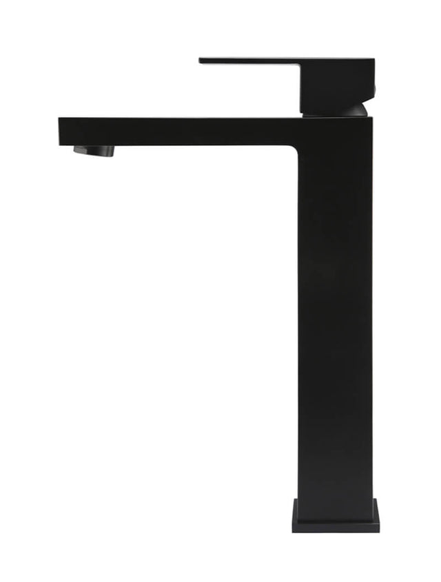 Meir Square Tall Basin Mixer - Matte Black (SKU: MB04) Image - 2
