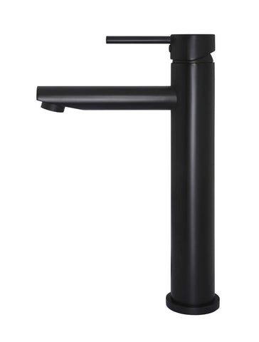 Round Tall Basin Mixer - Matte Black