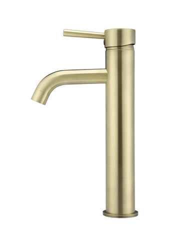 Round Tall Basin Mixer Curved - Tiger Bronze Gold