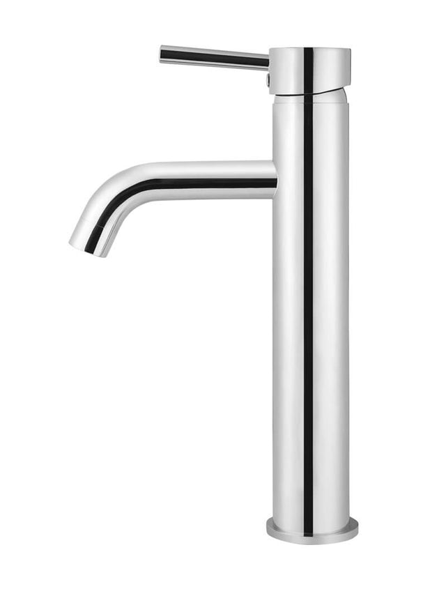 Meir Round Tall Basin Mixer Curved - Polished Chrome (SKU: MB04-R3-C) Image - 2