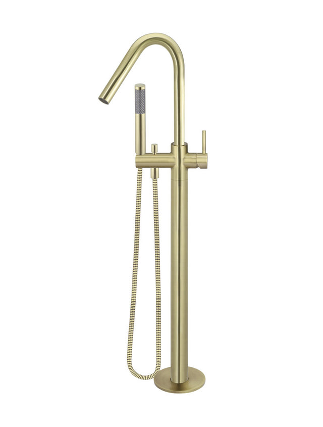 Meir Round Freestanding Bath Spout and Hand Shower Gold - Tiger Bronze Gold (SKU: MB09-BB) Image - 1