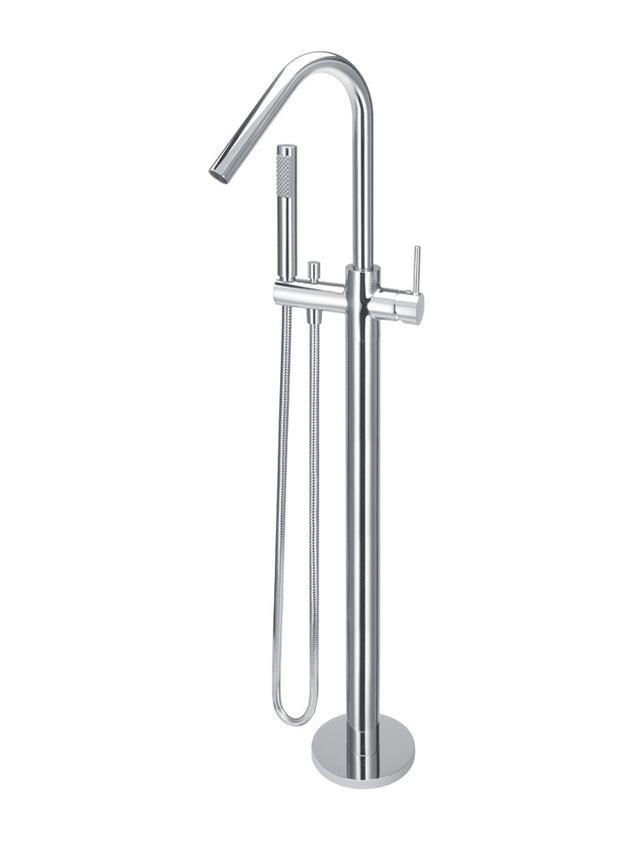 Meir Round Freestanding Bath Spout and Hand Shower - Polished Chrome (SKU: MB09-C) Image - 1