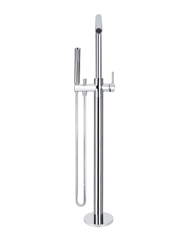 Meir Round Freestanding Bath Spout and Hand Shower - Polished Chrome (SKU: MB09-C) Image - 3