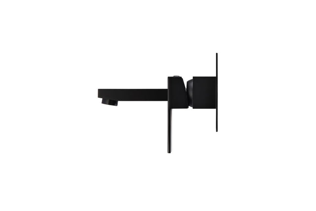 Square Wall Basin Mixer and Spout - Matte Black (SKU: MC01) by Meir