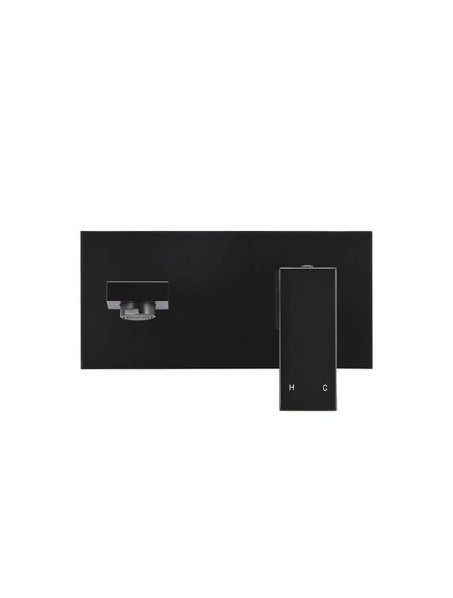 Square  Wall Spout and Mixer Combination - Matte Black