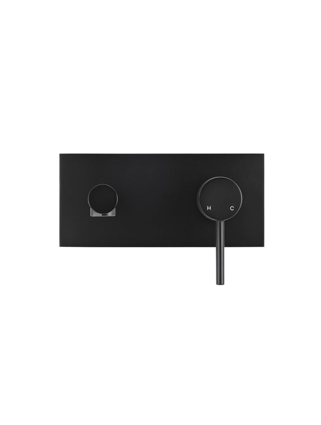Meir Round Wall Basin Mixer and Spout - Matte Black (SKU: MC03) Image - 2