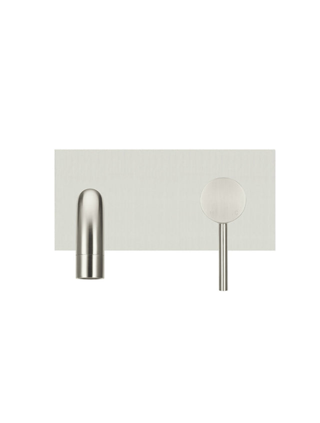 Meir Round Wall Bath Mixer and Curved Spout - Brushed Nickel (SKU: MC05-PVDBN) Image - 3