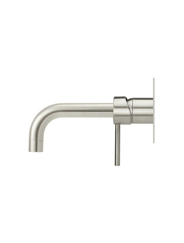 Meir Round Wall Bath Mixer and Curved Spout - Brushed Nickel (SKU: MC05-PVDBN) Image - 2