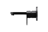 Zitto Wall Basin Mixer and Spout set - Matte Black - MCZ03