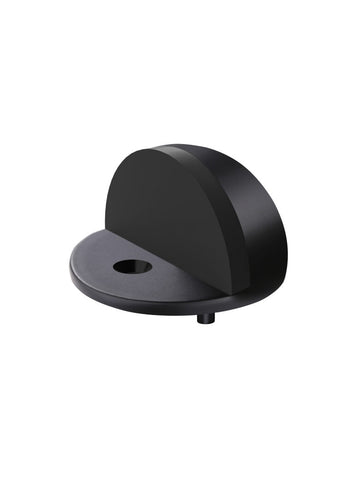 Round Half Moon Door Stop - Matte Black