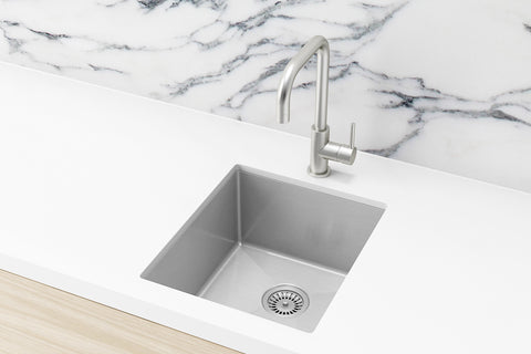 Kitchen Sink - Single Bowl 380 x 440 - Brushed Nickel