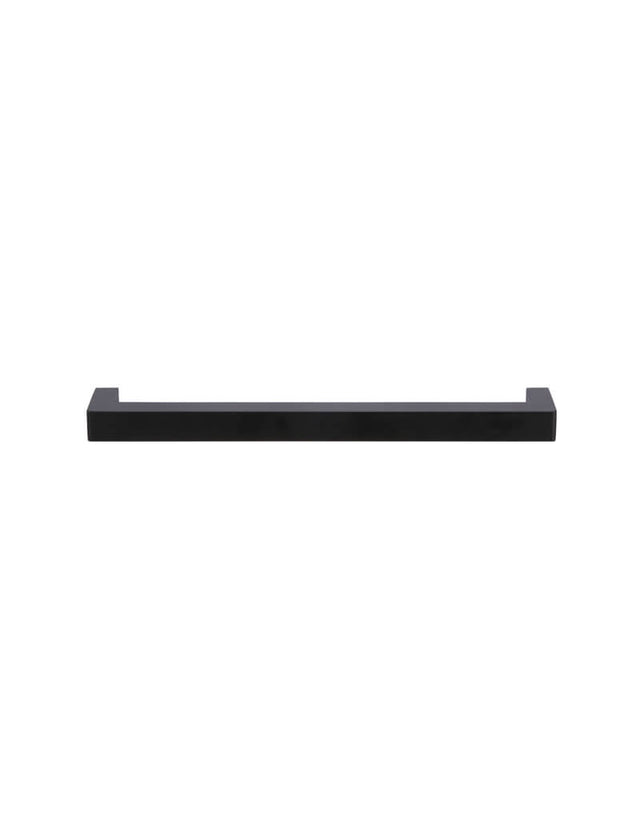 Square Handle for Cabinets 224mm - Matte Black (SKU: MH224-S) by Meir