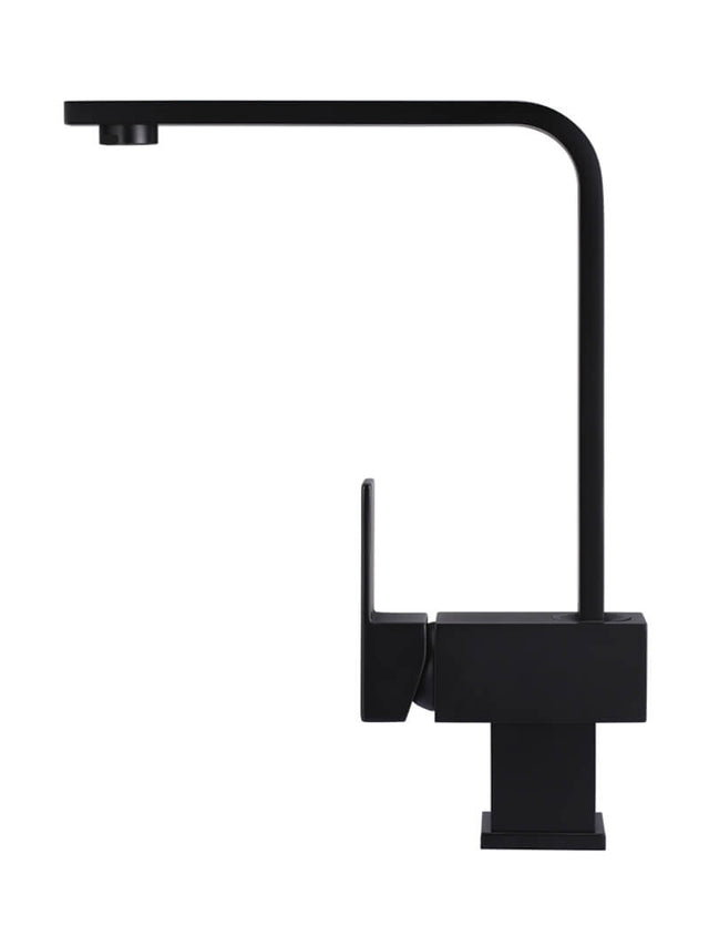 Meir Square Kitchen Mixer Tap - Matte Black (SKU: MK01) Image - 2