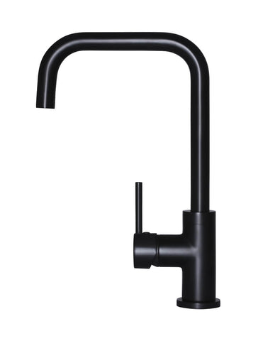 Round Kitchen Mixer Tap - Matte Black