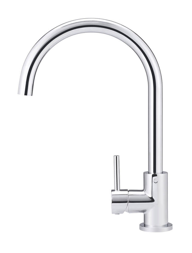 Round Kitchen Mixer Tap - Polished Chrome (SKU: MK03-C) by Meir
