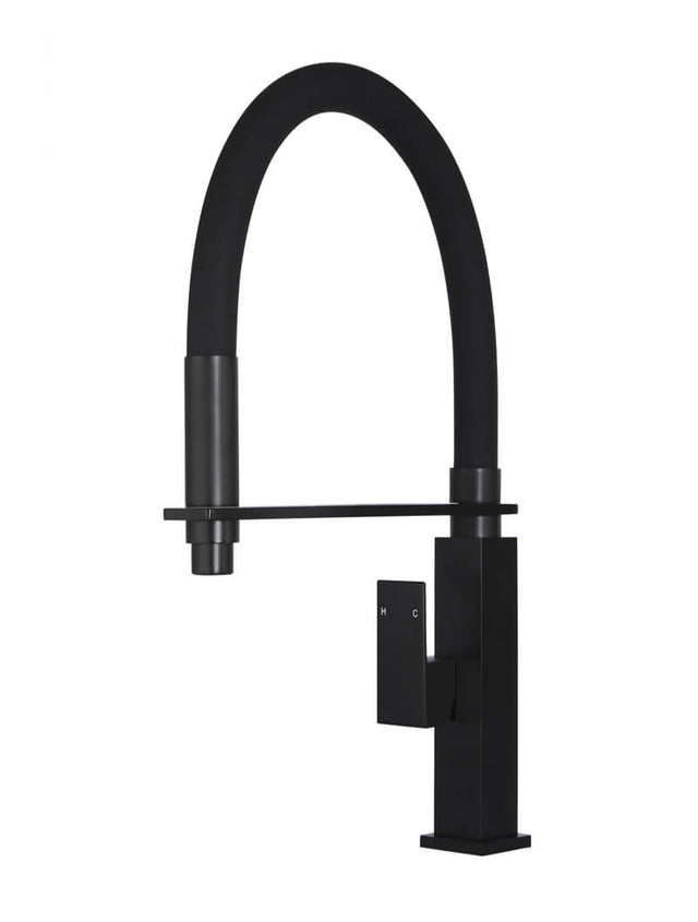 Meir Square Flexible Kitchen Mixer Tap - Matte Black (SKU: MK05) Image - 1