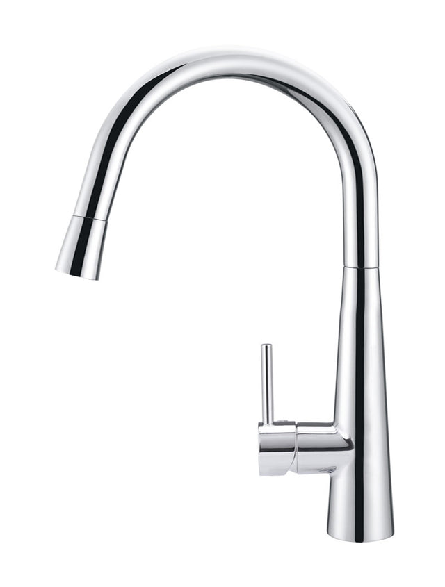 Meir Round Pull Out Kitchen Mixer Tap - Polished Chrome (SKU: MK07-C) Image - 2
