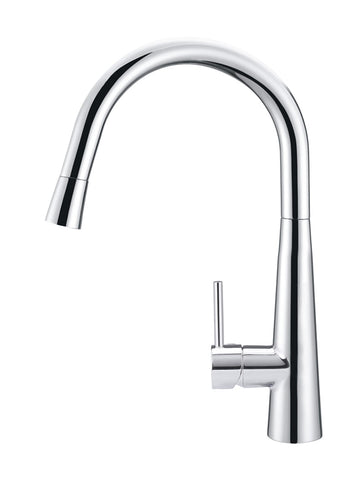 Round Pull Out Kitchen Mixer Tap - Polished Chrome