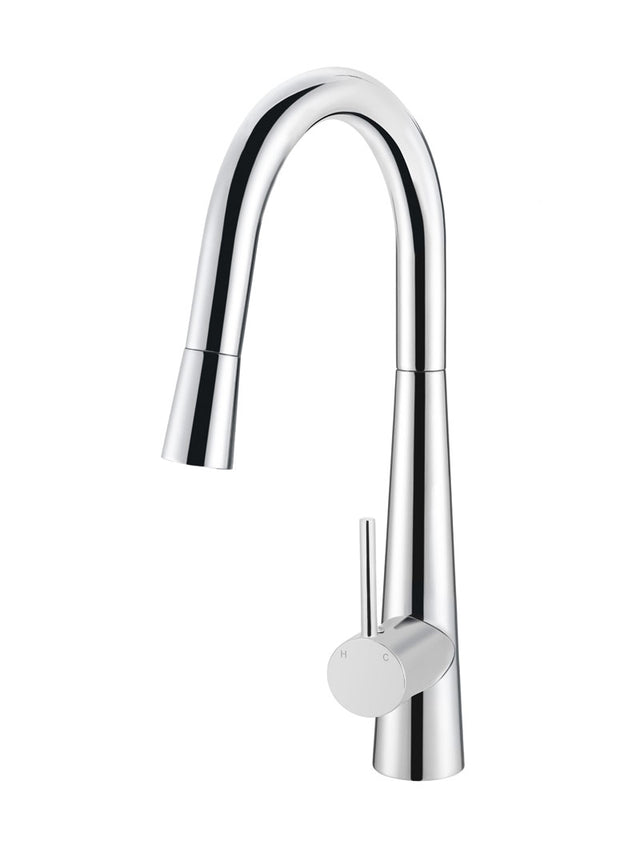 Meir Round Pull Out Kitchen Mixer Tap - Polished Chrome (SKU: MK07-C) Image - 1