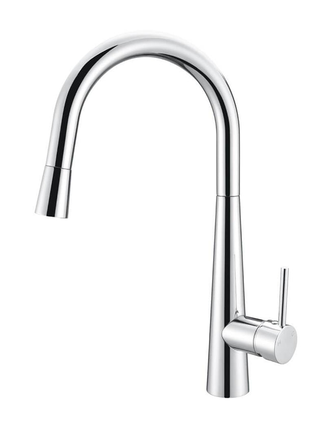 Meir Round Pull Out Kitchen Mixer Tap - Polished Chrome (SKU: MK07-C) Image - 3