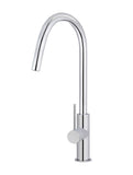 Round Piccola Pull Out Kitchen Mixer Tap - Polished Chrome - MK17-C