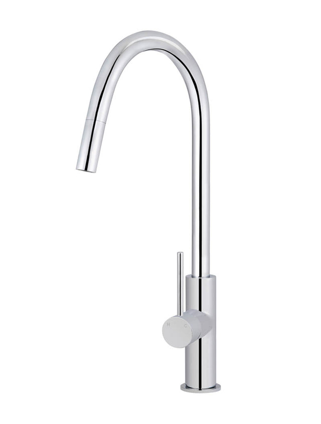 Meir Round Piccola Pull Out Kitchen Mixer Tap - Polished Chrome (SKU: MK17-C) Image - 1