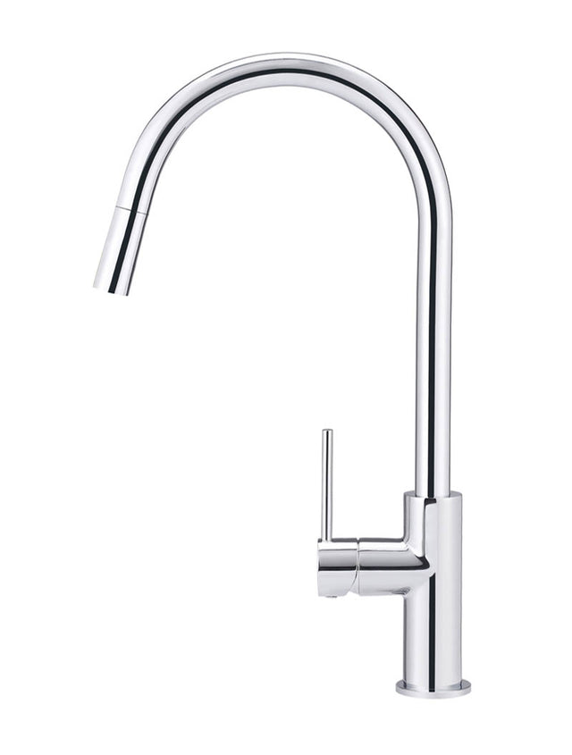 Meir Round Piccola Pull Out Kitchen Mixer Tap - Polished Chrome (SKU: MK17-C) Image - 2