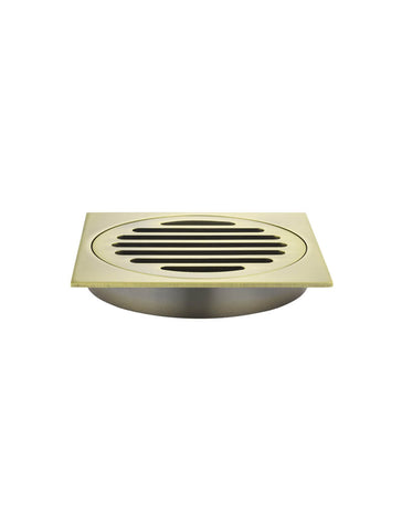 Meir Floor Shower Grate - 100mm - Tiger Bronze Gold