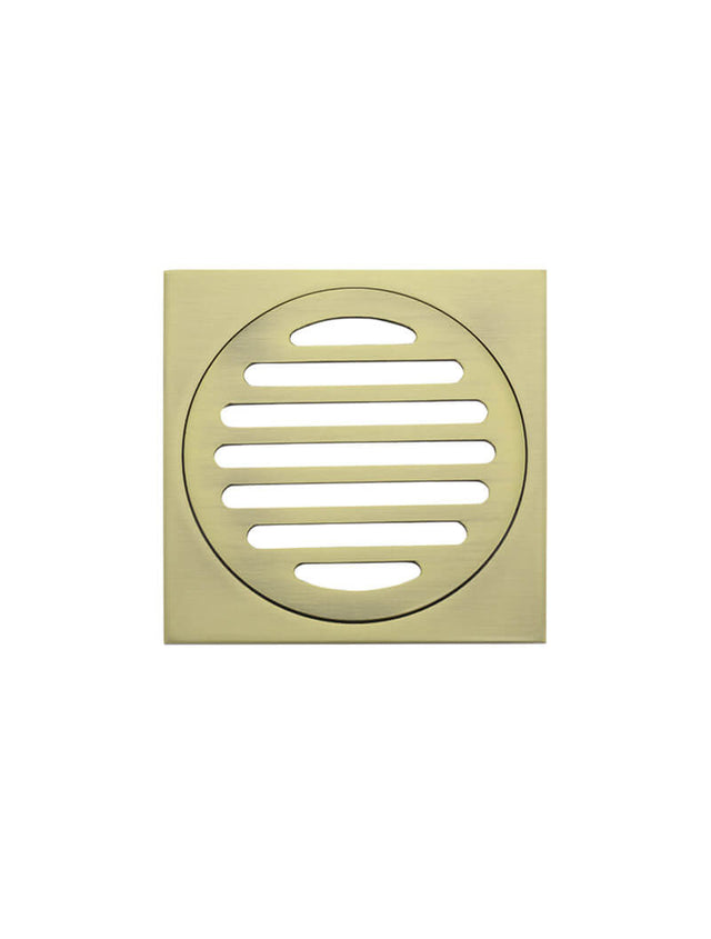 Floor Shower Grate - 100mm - Tiger Bronze Gold