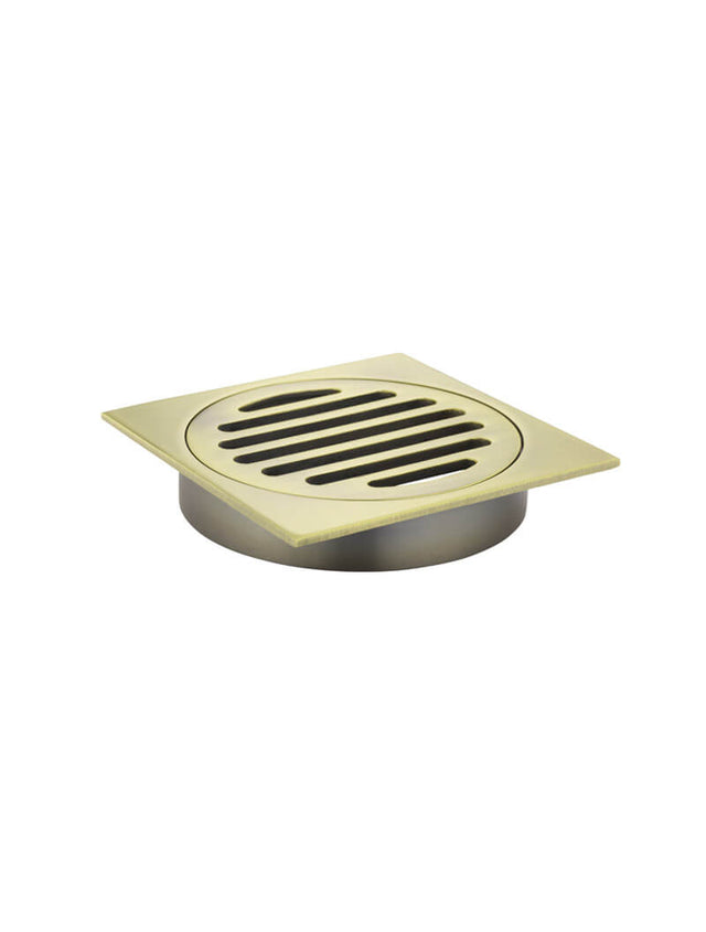 Square Floor Grate Shower Drain 100mm outlet - Tiger Bronze (SKU: MP06-100-BB) by Meir