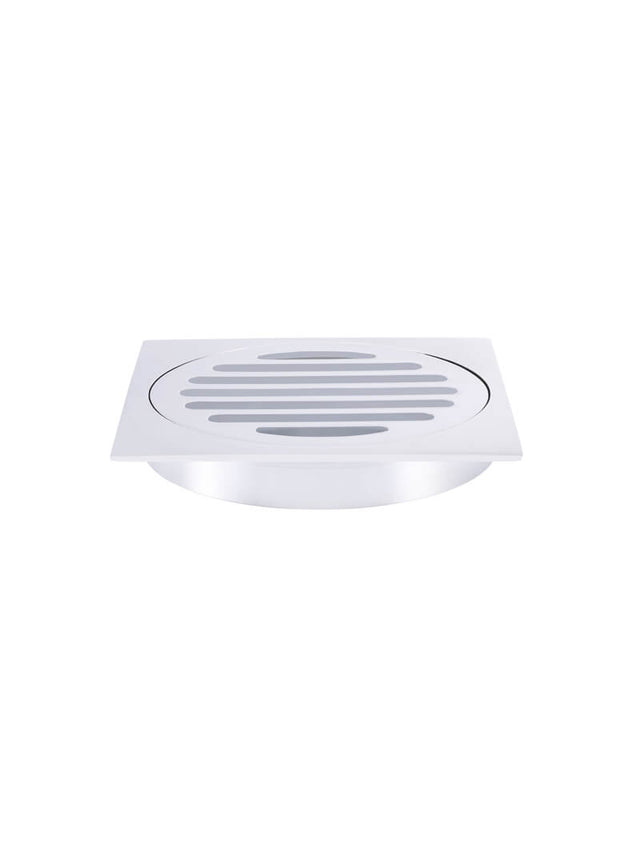 Meir Square Floor Grate Shower Drain 100mm outlet - Polished Chrome (SKU: MP06-100-C) Image - 1