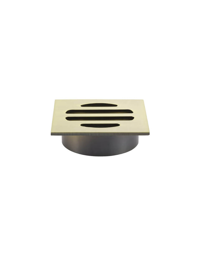 Meir Square Floor Grate Shower Drain 50mm outlet Gold - Tiger Bronze Gold (SKU: MP06-50-BB) Image - 1
