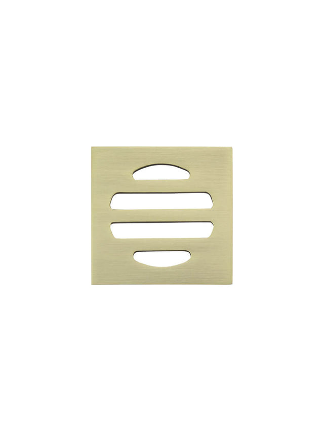 Meir Square Floor Grate Shower Drain 50mm outlet Gold - Tiger Bronze Gold (SKU: MP06-50-BB) Image - 2