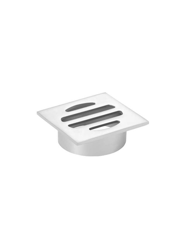 Meir Square Floor Grate Shower Drain 50mm outlet - Polished Chrome (SKU: MP06-50-C) Image - 3