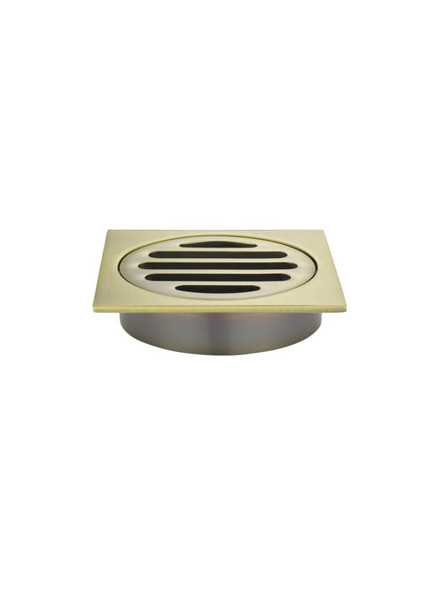 Meir Square Floor Grate Shower Drain 800mm outlet Gold - Tiger Bronze Gold (SKU: MP06-80-BB) Image - 1