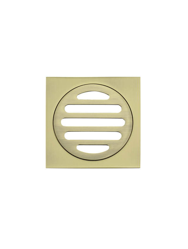 Meir Square Floor Grate Shower Drain 800mm outlet Gold - Tiger Bronze Gold (SKU: MP06-80-BB) Image - 2