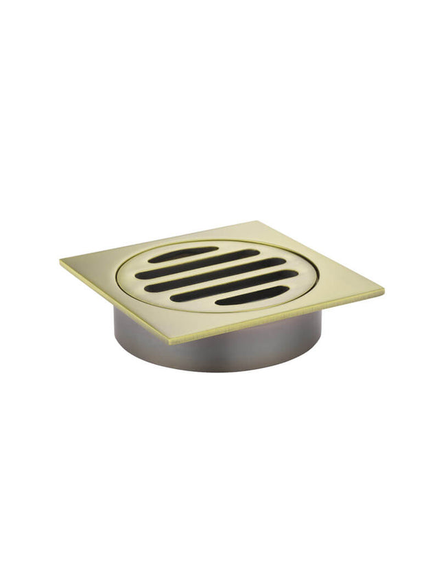 Square Floor Grate Shower Drain 80mm outlet - Tiger Bronze (SKU: MP06-80-BB) by Meir
